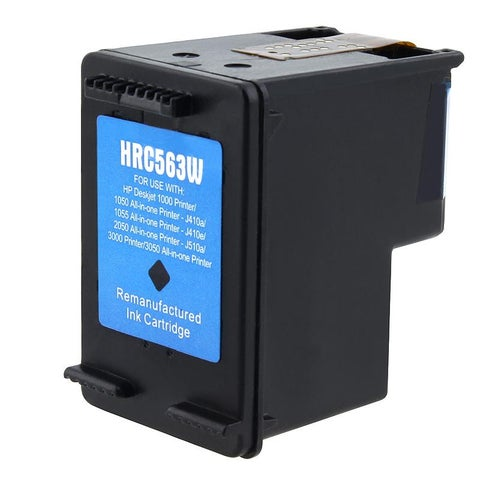 Insten Black Remanufactured Ink Cartridge Replacement for HP CH563WN/ 61XL