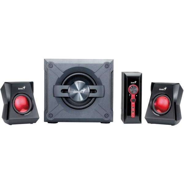 Genius SW-G2.1 1250 2.1 Speaker System - 38 W RMS - Gray