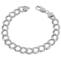 Fremada 14k White Gold 7.3-mm Classic Flat Charm Bracelet|https://ak1.ostkcdn.com/images/products/6065559/76/274/Fremada-14k-White-Gold-7.3-mm-Classic-Flat-Charm-Bracelet-P13740122.jpg?impolicy=medium
