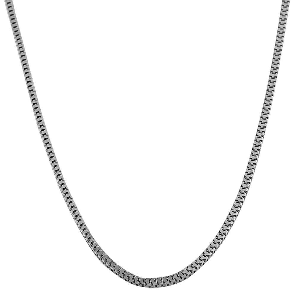 Fremada 14k White Gold 18-inch Hollow Square Snake Chain