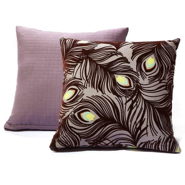 Plush Plumes/ Modern Spa Charcoal Grey Decorative Pillows (Set of 2)