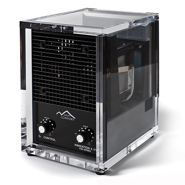 New Comfort CA3500 Acrylic Washable Hepa Air Purifier, Black