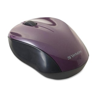Verbatim Wireless Nano Notebook Optical Mouse - Purple