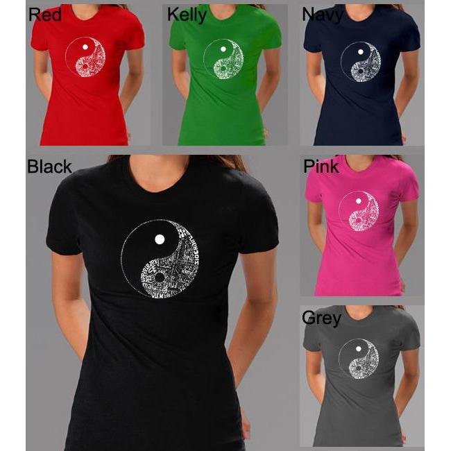 Los Angeles Pop Art Women's Yin Yang T-Shirt