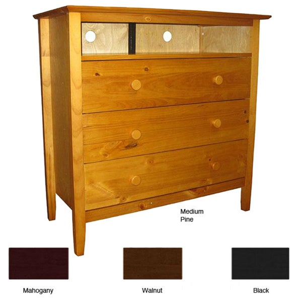 Scandinavia Solid Pine 3-drawer Dresser TV Console
