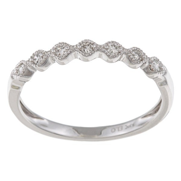 14k White Gold 1/10ct TDW Diamond Band (H-I, I2)