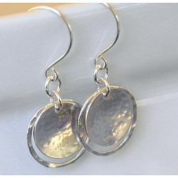 AEB Designs Sterling Silver Cup and Hoop Earrings
