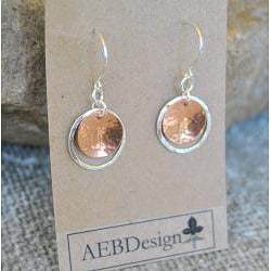 AEB Designs Copper and Sterling Silver Cup and Hoop Earrings