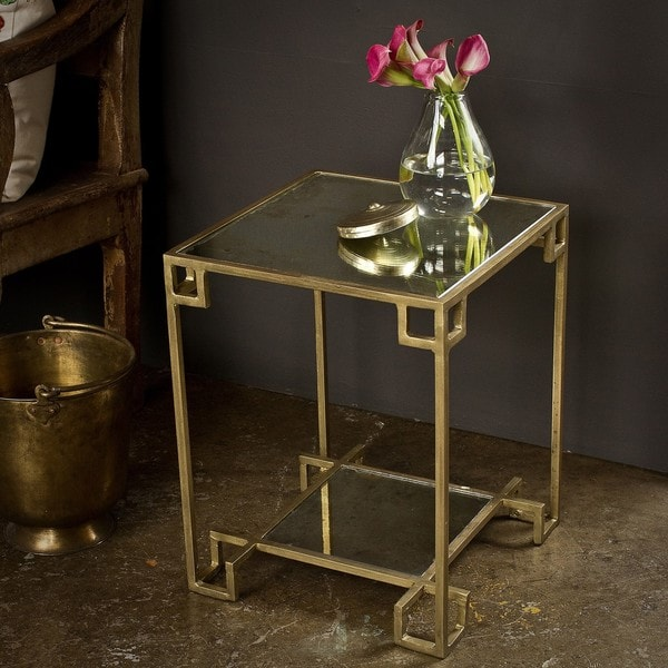 Steel Cubist Brass Side Table (India)