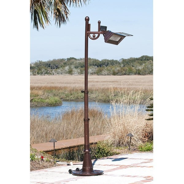 Hammered Bronze Traditional Pole Mounted Infrared Patio Heater