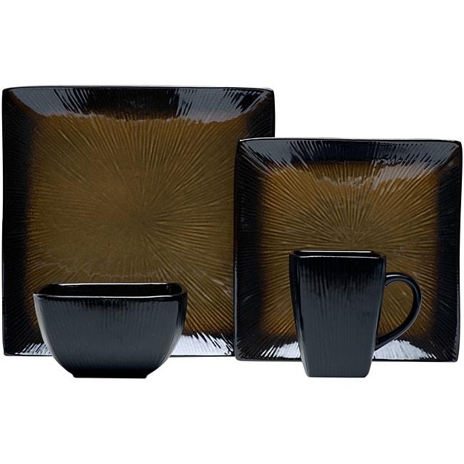 Red Vanilla Rustic Beige 16-Piece Dinnerware Set