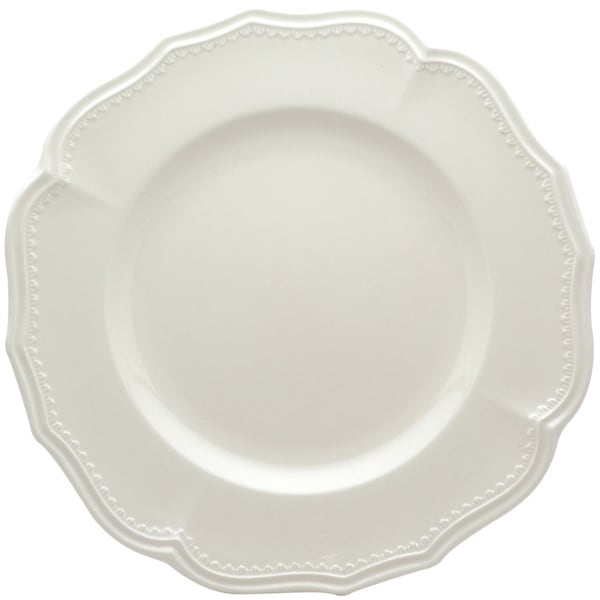 Red Vanilla Classic White 11.25-in Dinner Plates (Set of 4)  sc 1 st  Overstock.com : white dinner plate set - pezcame.com