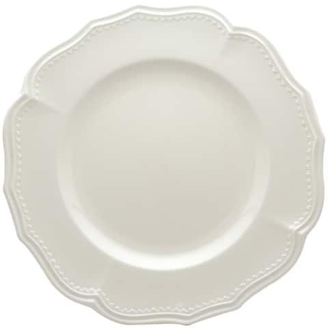 "Red Vanilla Classic White Dinner Plates 11.25"" Set/4"