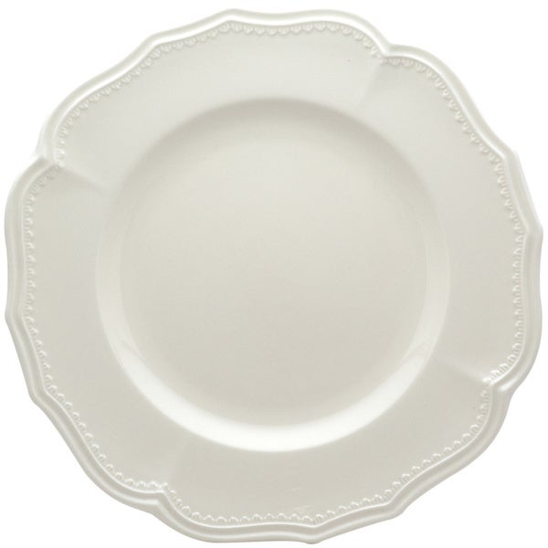 "Red Vanilla Classic White Dinner Plates 11.25"" Set/4"
