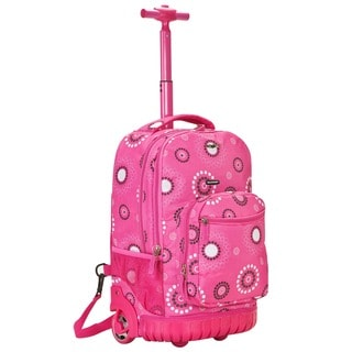 Rockland Deluxe Pink Pearl Rolling 18-inch Laptop Backpack