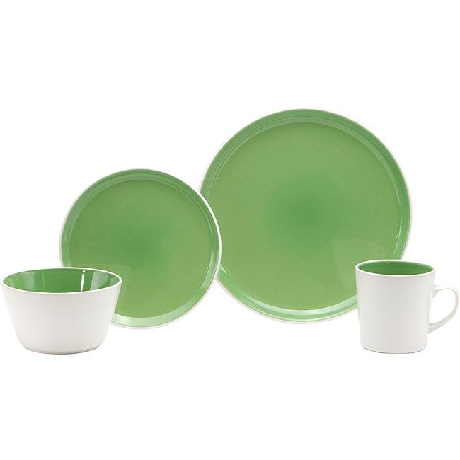 Oneida Color Burst Kiwi Green 16-piece Dinnerware Set
