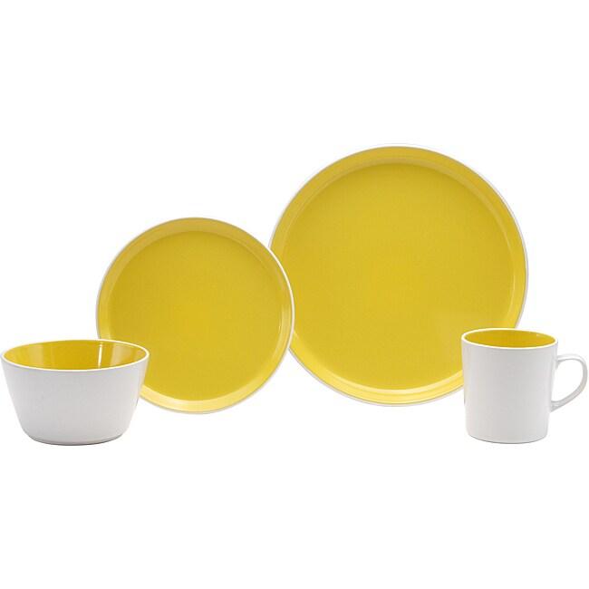 Oneida Color Burst Lemon Drop 16-piece Dinnerware Set