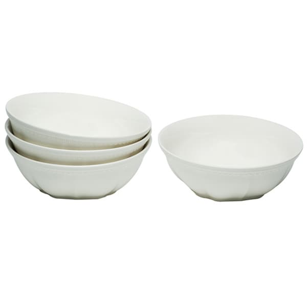 Red Vanilla Classic White Bowls (Set of 4)