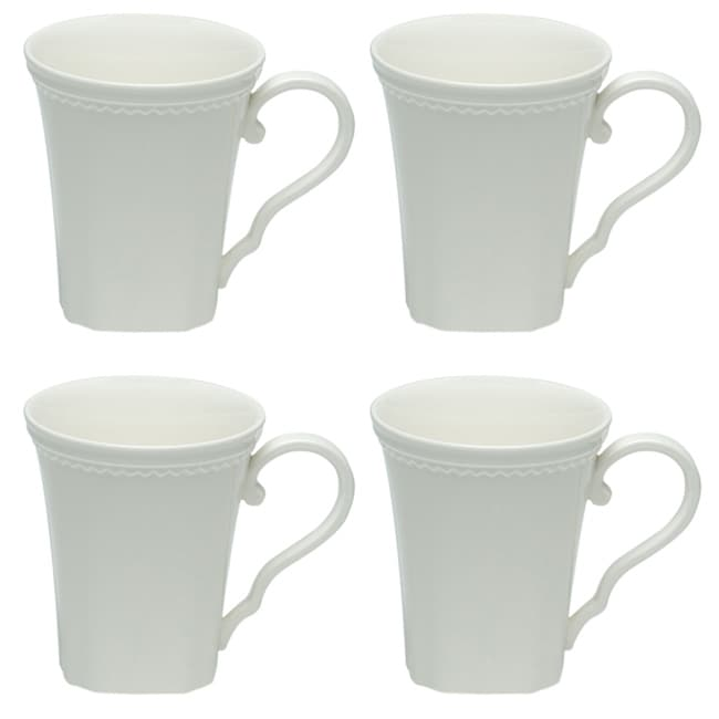 Red Vanilla Classic White 12-ounce Mugs (Set of 4)