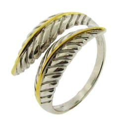 Sterling Silver Two-Tone Leaf Band