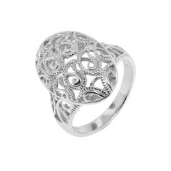 Sterling Silver Fancy Filigree Ring - Thumbnail 1