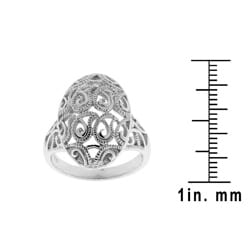 Sterling Silver Fancy Filigree Ring - Thumbnail 2