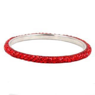 NEXTE Jewelry Silvertone Red Rhinestone Zecchino Bracelet