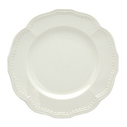 Red Vanilla Classic White 8.5-inch Salad Plates (Set of 4)