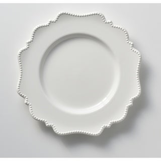 Red Vanilla Pinpoint White Dinner Plates (Set of 6)  sc 1 st  Overstock & Formal Plates For Less | Overstock
