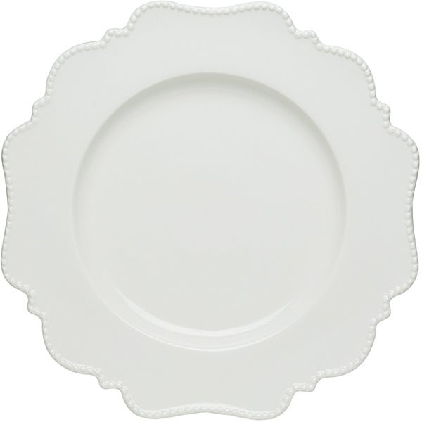 Red Vanilla Pinpoint White Dinner Plates (Set of 6)  sc 1 st  Overstock.com & Shop Red Vanilla Pinpoint White Dinner Plates (Set of 6) - On Sale ...