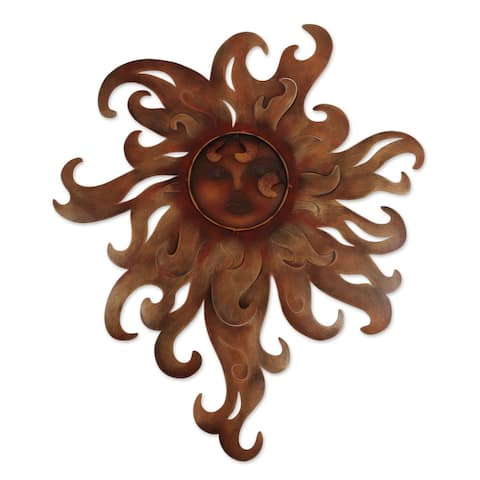 Handmade Lady of the Sun Metal Wall Art (Mexico)