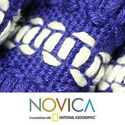 Handmade Cotton 'Antigua Blue' 12-piece Placemat and Napkin Set (Guatemala) - Thumbnail 2