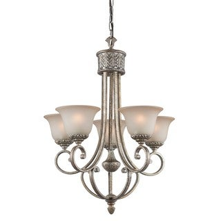 Woodbridge Lighting 5-light Coppertone Silver Chandelier