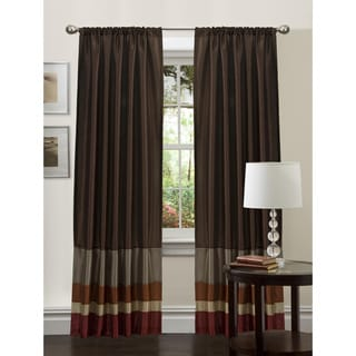 Lush Decor Red/ Gold 84-inch Iman Curtain Panel