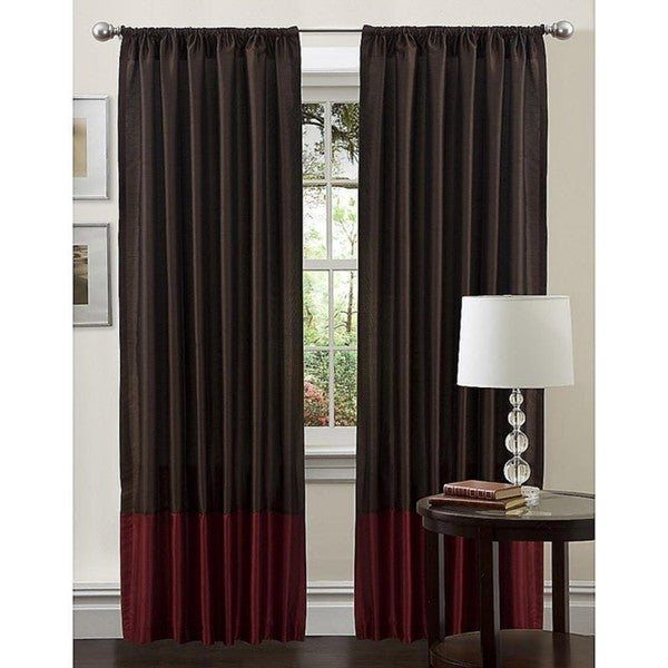 Lush Decor Red 84-inch Cocoa Flower Curtain Panel