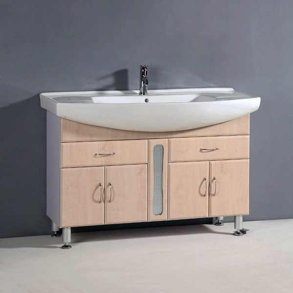 Shop Ceramic Top 47.5-inch Single Sink Bathroom Vanity ...