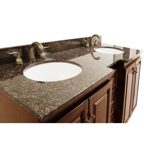 Granite Top 60 Inch Double Sink Bathroom Vanity Overstock 6072613