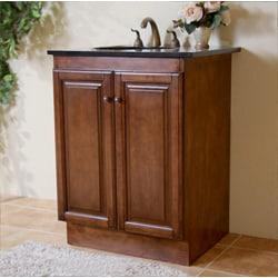 Granite Top 24-inch Single Sink Bathroom Vanity - Free ...