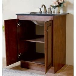 Granite Top 24 Inch Single Sink Bathroom Vanity Free Shipping Today Overs
