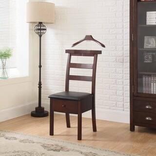 Proman VL16654 Dark Brown Manhattan Chair Valet