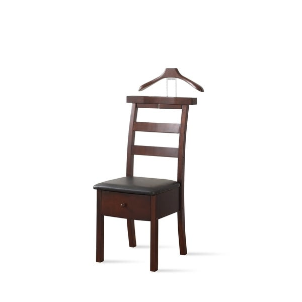 chair valet stand. proman vl16654 dark brown manhattan chair valet - free shipping today overstock.com 13745628 stand