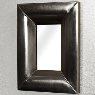 Steel 24x19-inch Antique Nickel Mirror (India)