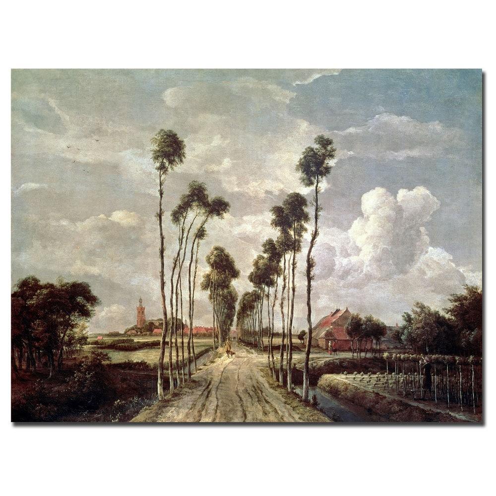 Meindert Hobbema The Avenue At Middelharnis 1689 Canvas Art Overstock 6072752