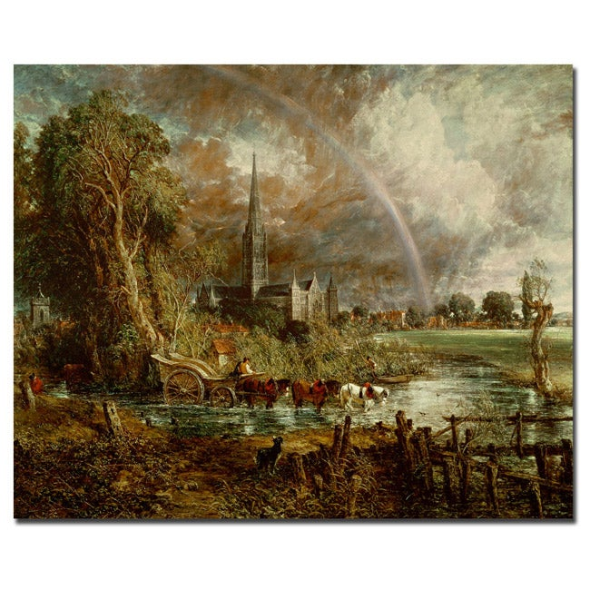 John Constable 'Salisbury Cathedral from the Meadows, 1831' Canvas Art