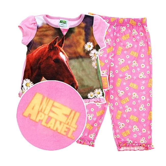 Animal Planet Girl's 3-Piece Horse Pajama Set - Free Shipping On ...