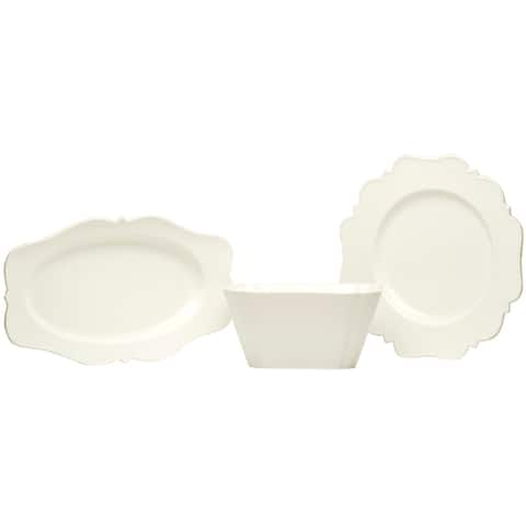 Red Vanilla Pinpoint White 3Pc Hostess Set