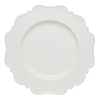 Red Vanilla Pinpoint White Bread and Butter Plates (Set of 6)