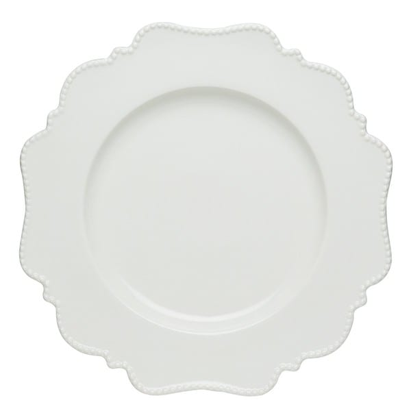 Red Vanilla Pinpoint White Salad Plates (Set of 6)
