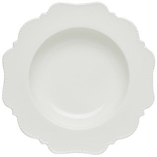 Red Vanilla 'Pinpoint' White Rimmed Soup Bowls (Set of 6)