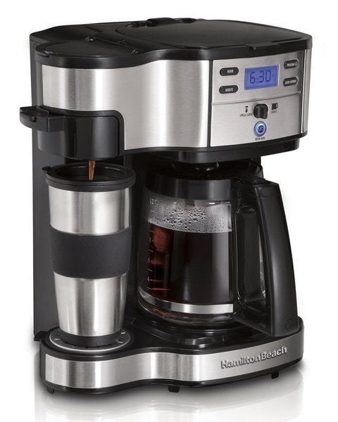 Hamilton Beach 49980Z Two-way Brewer Single Serve and 12-cup Coffee Maker